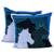 Cotton cushion covers, 'Countryside Horses' (pair) - Pair of 100% Cotton Horse Cushion Covers from India thumbail