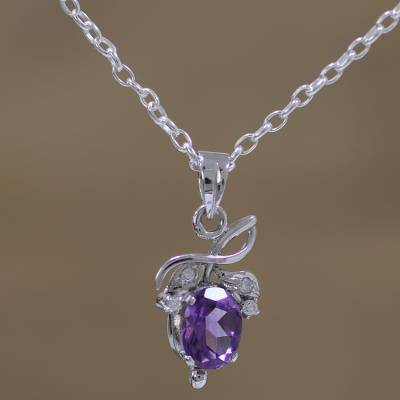 Novica Amethyst and citrine necklace, Lilac World