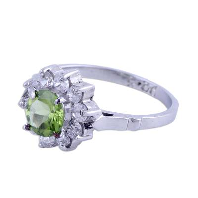 Sparkling Peridot Cocktail Ring from India