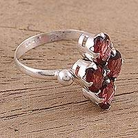 Garnet cocktail ring, 'Red Sparkle'