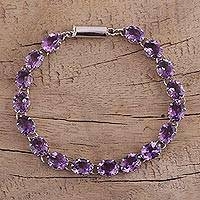 Featured review for Amethyst tennis bracelet, Royal Magic
