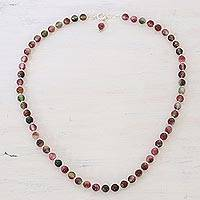 Quartz beaded necklace, 'Happy Delight'