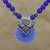 Chalcedony beaded pendant necklace, 'Peaceful Blue' - Blue Chalcedony Beaded Pendant Necklace from India thumbail