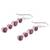 Ruby and garnet dangle earrings, 'Trendy Orbs' - Ruby and Garnet Sterling Silver Dangle Earrings from India (image 2d) thumbail