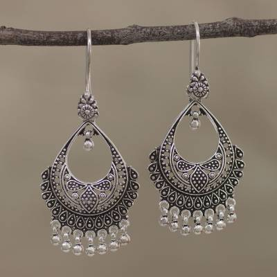 Sterling Silver Chandelier Earrings Decadence From India