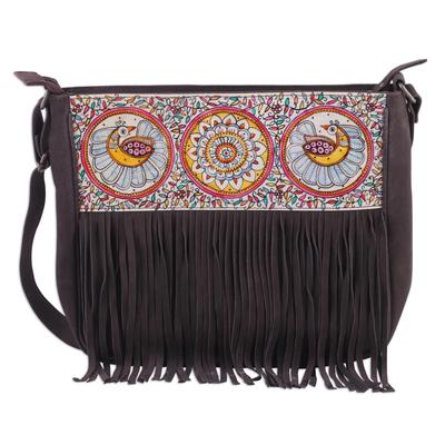 Novica Leather tablet bag, Garden Allure