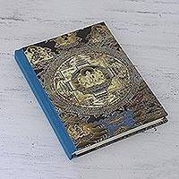 Cotton-bound journal, 'Peace be on Earth' - Hand Crafted Cotton and Handmade Paper Journal