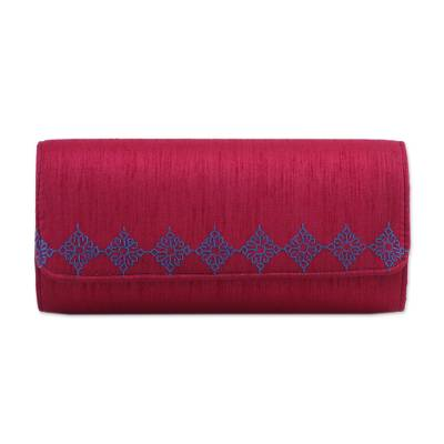 Ruby Red Clutch Handbag Handmade in India