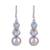 Blue topaz and cultured pearl dangle earrings, 'Dance in the Clouds' - Blue Topaz and Cultured Pearl Dangle Earrings from India thumbail