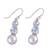 Blue topaz and cultured pearl dangle earrings, 'Dance in the Clouds' - Blue Topaz and Cultured Pearl Dangle Earrings from India (image 2c) thumbail