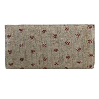 Beaded Clutch Handbag in Wheat from India