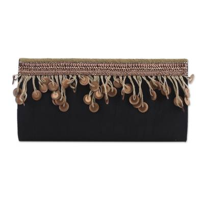 Handmade Beaded Clutch Handbag from India