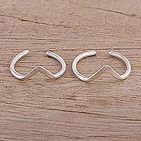 Sterling silver toe rings, 'Steady Rhythm' (pair) - Modern Polished Sterling Silver Toe Band Rings (Pair)