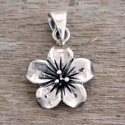 Handcrafted sterling silver flower pendant from india fantasy sterling silver pendant fantasy petals handcrafted sterling silver flower pendant from india aloadofball Choice Image