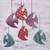Ornaments, 'Dancing Fish' (set of 6) - Set of Six Colorful Fish-Shaped Ornaments from india thumbail