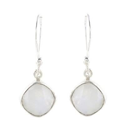 Artisan Crafted Rainbow Moonstone Dangle Earrings