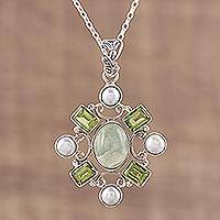 Featured review for Multi-gemstone pendant necklace, Alluring Style