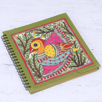 Handmade paper photo album, Cheerful Bird