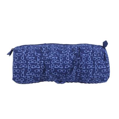 Novica Cotton travel bag, Indigo Glasses