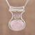 Rose quartz pendant necklace, 'Simply Scintillating' - Rose Quartz and Sterling Silver Modern Pendant Necklace (image 2) thumbail