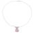 Rose quartz pendant necklace, 'Simply Scintillating' - Rose Quartz and Sterling Silver Modern Pendant Necklace (image 2b) thumbail