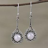 Cultured pearl dangle earrings, 'Inner Radiance'