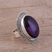 Amethyst cocktail ring, 'Too Marvelous'