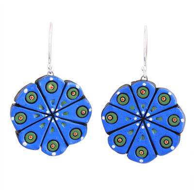 Ceramic dangle earrings,