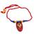 Ceramic pendant necklace, 'Festival of Colors' - Red Ceramic and Cotton Pendant Necklace from India (image 2a) thumbail
