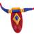 Ceramic pendant necklace, 'Festival of Colors' - Red Ceramic and Cotton Pendant Necklace from India (image 2c) thumbail