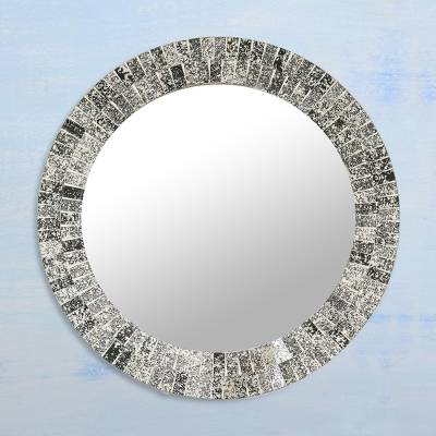Mosaic Tile Round Wall Mirror