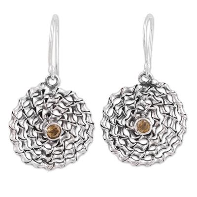 Indian Citrine 925 Sterling Silver Dangle Earring