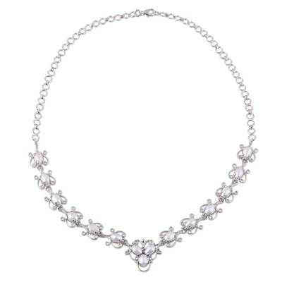 Cultured Freshwater Pearl Link Necklace from India