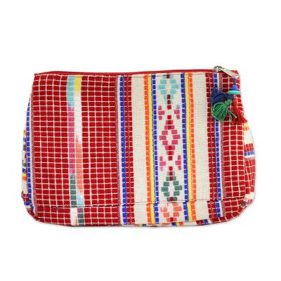 Multicolor Cotton Cosmetic Bag from India