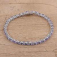 Tanzanite tennis bracelet,