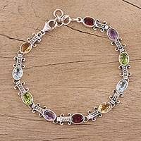 Featured review for Multi-gemstone link bracelet, Jazzy Elegance