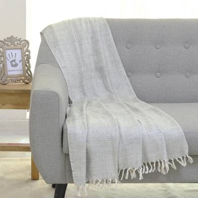 Silk throw blanket, Smoky Waves