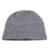 Wood blend hat, 'Himalayan Comfort in Grey' - Hand Knitted Stone Grey Wool Blend Hat from India (image 2a) thumbail