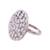 Rhodium plated sterling silver cocktail ring, 'Sparkling Ecstasy' - Rhodium Plated Sterling Silver Cocktail Ring from India (image 2d) thumbail