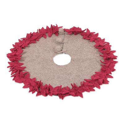 Wool tree skirt,