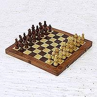 Wood chess set, 'Starry Pastime'