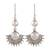 Cultured pearl dangle earrings, 'Sweetly Radiant' - Sterling Silver Round White Cultured Pearl Dangle Earrings (image 2a) thumbail
