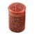 Papier mache toothpick holder, 'Red Floral Beauty' - Hand-Painted Red and Gold Floral Wood Toothpick Holder (image 2a) thumbail