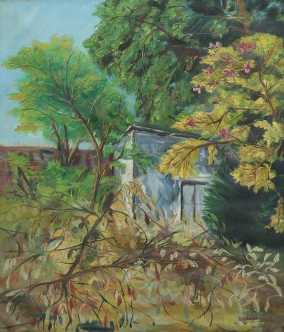 'Moods of Nature' (2015) - Signed Impressionist Nature Painting from India