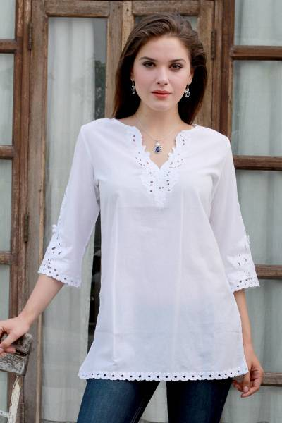 Cotton tunic, White Simplicity