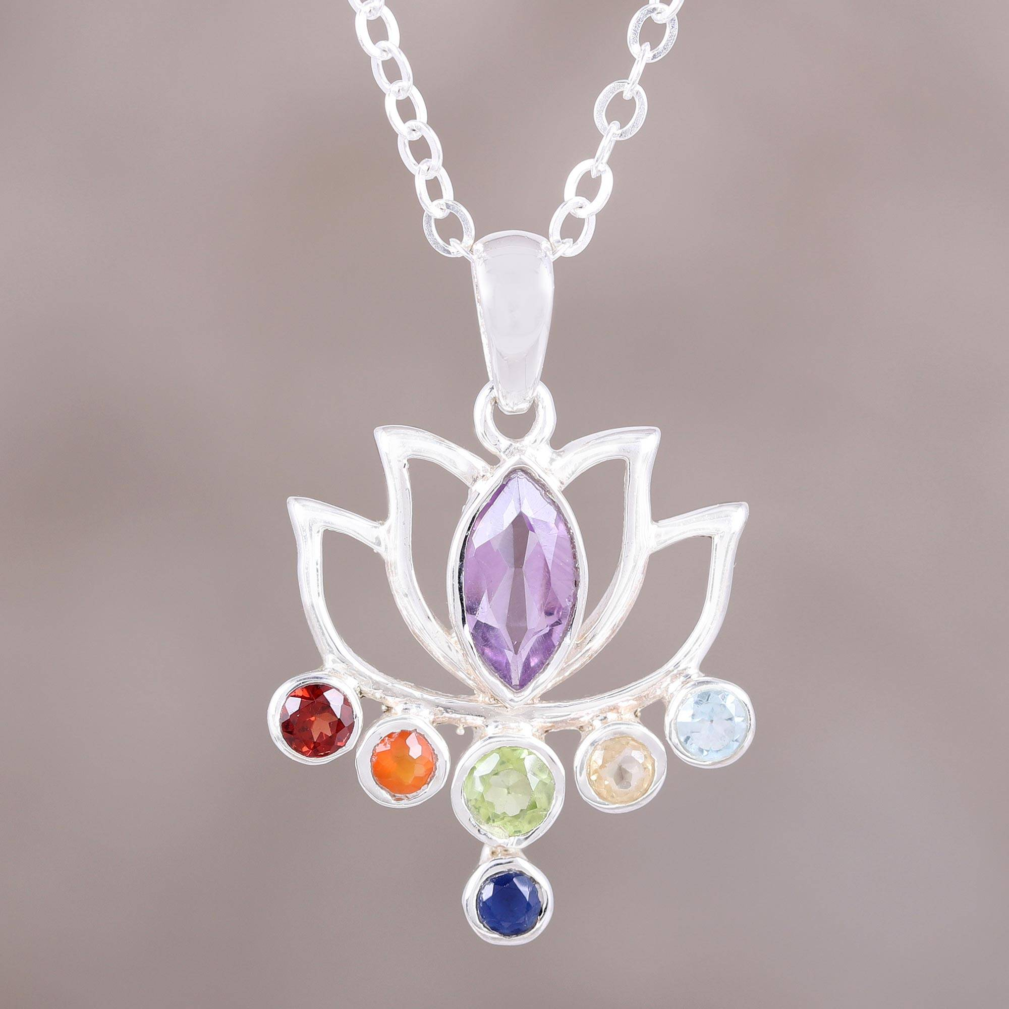 your symbol spiritual wear as jewelry a journey necklace flower amethyst lotus for