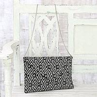 Featured review for Cotton convertible clutch/shoulder bag, Directional Style