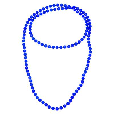 Blue Quartz and Sterling Silver Beaded Necklace from India