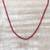 Quartz long beaded necklace, 'Serenade in Red' - Sterling Silver and Quartz Beaded Necklace in Red from India (image 2b) thumbail