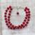 Quartz beaded bracelet, 'Felicity in Red' - Sterling Silver and Red Quartz Beaded Bracelet from India (image 2) thumbail